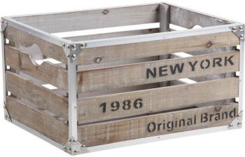 Caisse New-York bois et métal