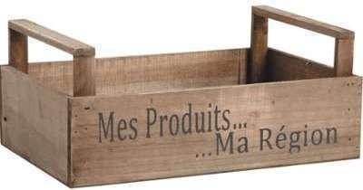 Caisse récolte Mes produits