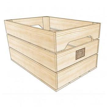 Caisse de rangement bois L
