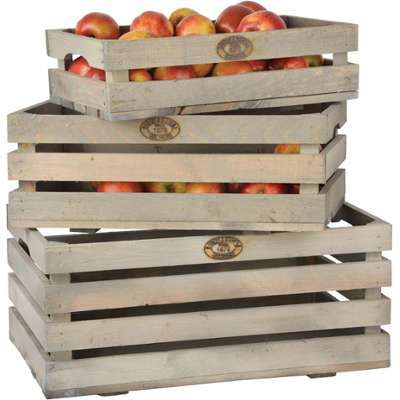 Caisses à fruits en pin (Lot