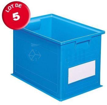 Carton de 5 caisses rangement