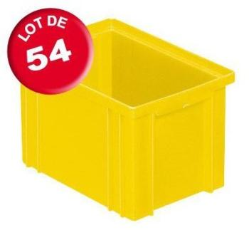 Carton de 54 caisses rangement