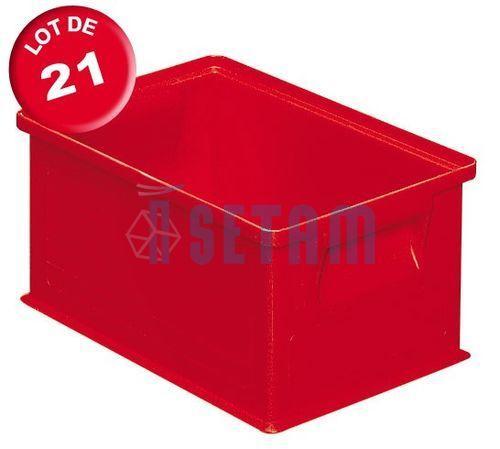 Carton de 21 caisses rangement