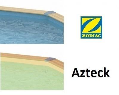 Liner piscine bois ronde Azteck