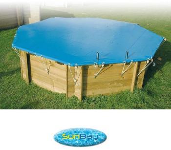 Bâche hiver piscine bois sunbay