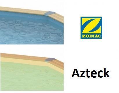 Liner piscine bois ovale Azteck