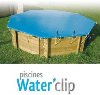 Bâche d hiver piscine bois