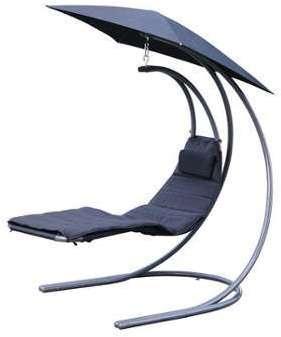 Chaise longue balancelle parasol