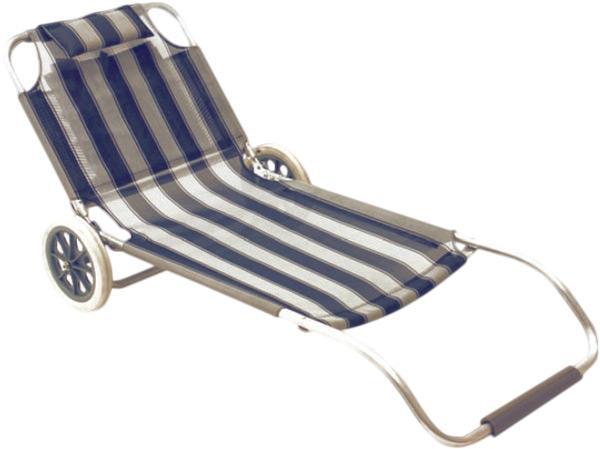 Transat plage roulettes transportable