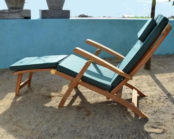Teck table pliante octogonale en 120x120 cm - Chaise longue teck pas cher ...