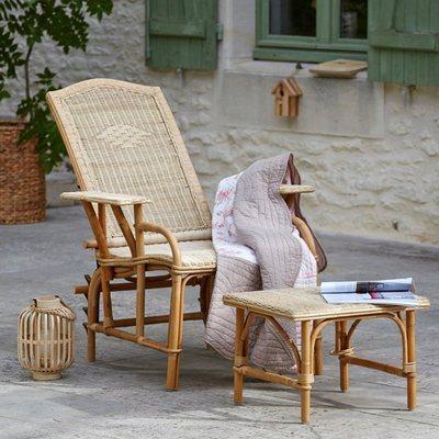 Grosfillex cchaise longue avec repose pieds atlantic coloris for Chaise longue bois avec repose pied