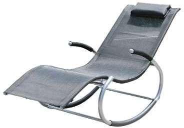 Chaise longue de jardin à