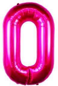 Ballon Chiffre 0 Fuchsia 90