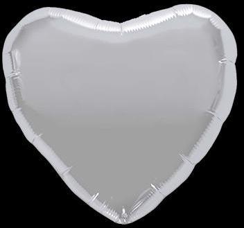 Ballon Coeur Argent 45 cm