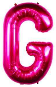 Ballon Lettre G Fuchsia 90
