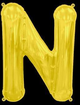 Ballon Lettre N Or 35 cm