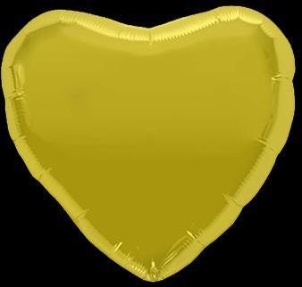 Ballon Coeur Or 45 cm