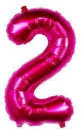 Ballon Chiffre 2 Fuchsia 35