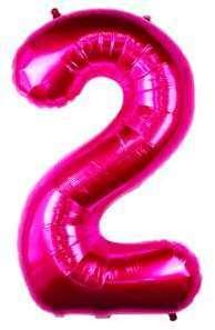 Ballon Chiffre 2 Fuchsia 90