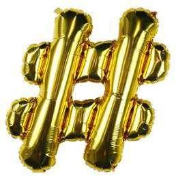 Ballon Lettre Hashtag Or 35