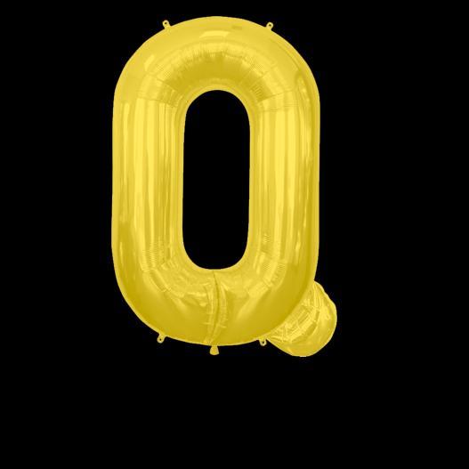 Ballon Lettre Q Or 90 cm