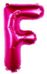 Ballon Lettre F Fuchsia 35