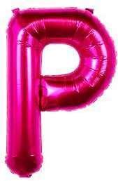Ballon Lettre P Fuchsia 35