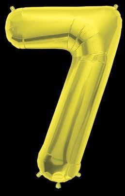 Ballon Chiffre 7 Or 90 cm
