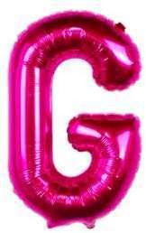 Ballon Lettre G Fuchsia 35