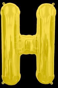 Ballon Lettre H Or 35 cm