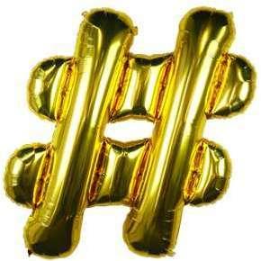 Ballon Lettre Hashtag Or 90