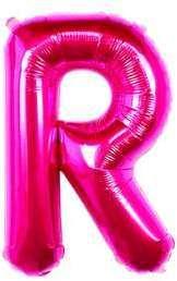 Ballon Lettre R Fuchsia 35