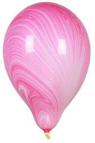 Ballon Marbré Rose x1