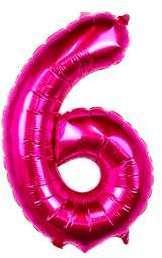 Ballon Chiffre 6 Fuchsia 35