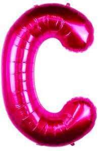 Ballon Lettre C Fuchsia 90
