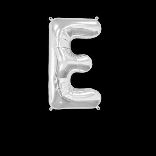 Ballon Lettre E Argent 35