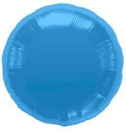 Ballon Rond Bleu Azur 45 cm