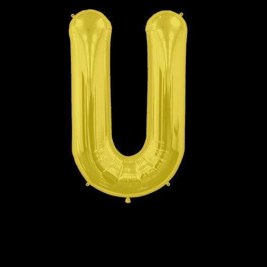 Ballon Lettre U Or 90 cm
