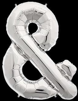 Ballon Lettre Argent 35 cm
