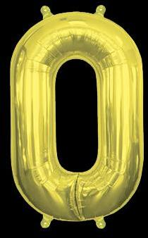 Ballon Chiffre 0 Or 35 cm