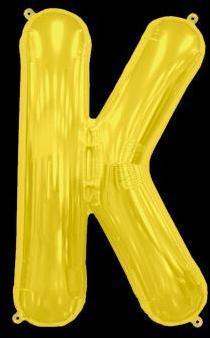 Ballon Lettre K Or 35 cm