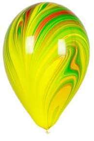 Ballon Marbré Jaune Vert et