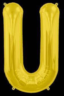 Ballon Lettre U Or 35 cm