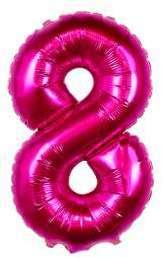 Ballon Chiffre 8 Fuchsia 35