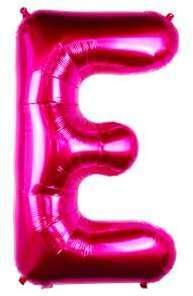 Ballon Lettre E Fuchsia 90