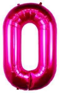 Ballon Lettre O Fuchsia 90