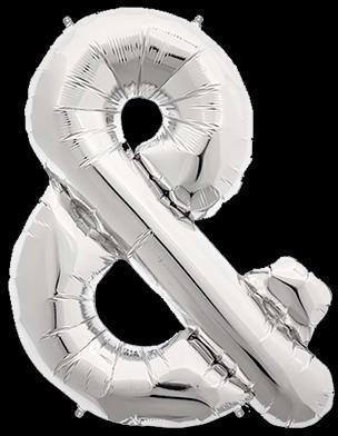 Ballon Lettre Argent 90 cm