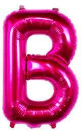 Ballon Lettre B Fuchsia 35