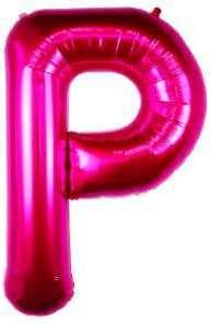 Ballon Lettre P Fuchsia 90