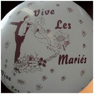 Ballon Vive les mariés XXL